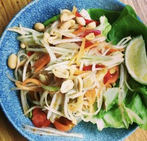 Som tam - pasta and carrot salad - Thai dish